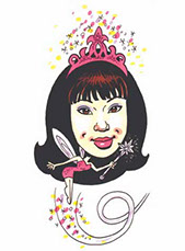 Fairytale, Gift Caricatures by Bill Wylie, Caricature from a photo, Action Caricatures by Bill