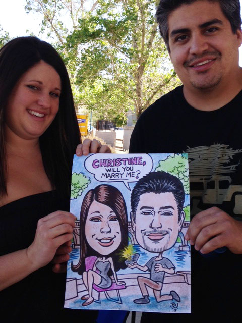Sweet 16 Party Caricature by Bill Wylie
