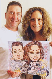 wedding caricatures, wedding caricature